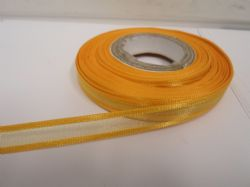 Marigold dark Yellow satin edged organza ribbon, 2 or 25 metres, Double sided, 10mm, 15mm, 25mm, 40mm, 70mm